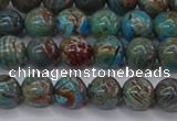 CAG9472 15.5 inches 6mm round blue crazy lace agate beads