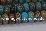 CAG9500 15.5 inches 5*8mm rondelle blue crazy lace agate beads
