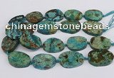 CAG9551 15.5 inches 25*35mm - 35*40mm freeform ocean agate beads