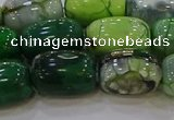 CAG9568 15.5 inches 13*18mm drum dragon veins agate beads