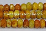 CAG9586 15.5 inches 5*8mm faceted rondelle crazy lace agate beads