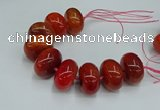 CAG9683 7.5 inches 20*35mm rondelle agate gemstone beads