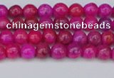CAG9924 15.5 inches 4mm round fuchsia crazy lace agate beads