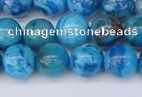 CAG9933 15.5 inches 8mm round blue crazy lace agate beads