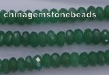 CAJ16 15.5 inches 5*8mm faceted rondelle green aventurine beads