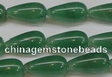 CAJ634 15.5 inches 10*20mm teardrop green aventurine beads
