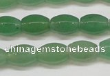 CAJ652 15.5 inches 8*12mm hexahedron green aventurine beads
