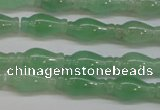 CAJ662 15.5 inches 7*14mm vase-shaped green aventurine beads