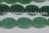 CAJ679 15.5 inches 12*16mm oval green aventurine beads