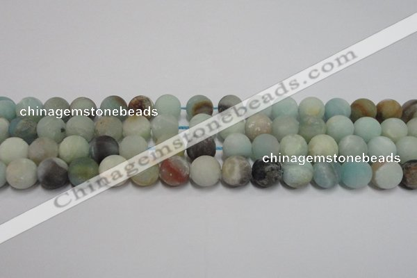 CAM1102 15.5 inches 8mm round matte amazonite beads wholesale