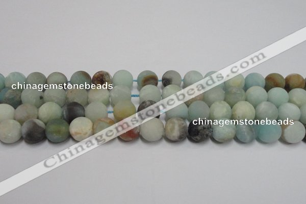 CAM1103 15.5 inches 10mm round matte amazonite beads wholesale