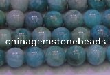 CAM1252 15.5 inches 8mm round natural Russian amazonite beads