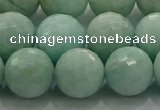 CAM1515 15.5 inches 14mm faceted round natural peru amazonite beads