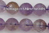 CAN154 15.5 inches 12mm faceted round natural ametrine beads