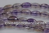 CAN18 15.5 inches 6*10mm faceted rice natural ametrine beads