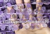 CAN238 Top drilled 8*12mm faceted briolette ametrine beads