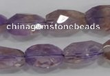 CAN29 15.5 inches 15*20mm faceted nugget natural ametrine beads