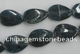 CAP208 15.5 inches 11*17mm flat teardrop natural apatite gemstone beads
