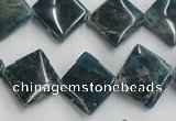 CAP210 15.5 inches 15*15mm diamond natural apatite gemstone beads