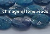 CAP390 15.5 inches 10*14mm faceted oval apatite gemstone beads