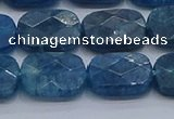 CAP396 15.5 inches 10*14mm faceted rectangle apatite gemstone beads