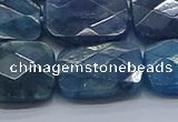 CAP399 15.5 inches 15*20mm faceted rectangle apatite gemstone beads
