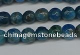 CAP521 15.5 inches 6mm faceted round apatite gemstone beads