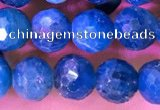 CAP658 15.5 inches 6mm faceted round apatite gemstone beads