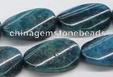 CAP67 15.5 inches 16*28mm twisted oval dyed apatite gemstone beads