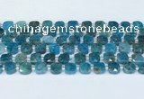 CAP701 15.5 inches 8mm faceted square apatite beads