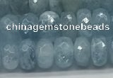 CAQ892 15.5 inches 5*8mm faceted rondelle aquamarine beads