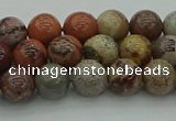 CAR351 15.5 inches 6mm round red artistic jasper beads wholesale