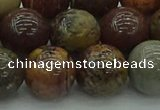 CAR355 15.5 inches 14mm round red artistic jasper beads wholesale