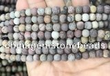 CAR370 15.5 inches 4mm round matte artistic jasper beads wholesale
