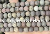 CAR372 15.5 inches 8mm round matte artistic jasper beads wholesale