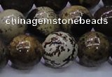 CAR55 15.5 inches 14mm round yellow artistic jasper beads