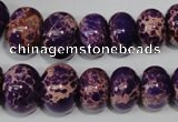 CAT303 15.5 inches 7*10mm – 15*20mm rondelle dyed aqua terra jasper beads