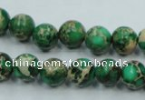 CAT58 15.5 inches 10mm round dyed natural aqua terra jasper beads
