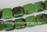 CAU35 15.5 inches 12*12mm square australia chrysoprase beads wholesale