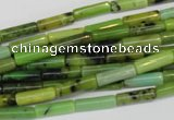 CAU46 15.5 inches 4*13mm tube Australia chrysoprase beads wholesale