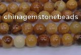 CAY02 15.5 inches 6mm round African yellow jasper beads wholesale