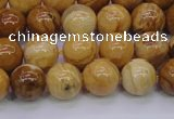 CAY04 15.5 inches 10mm round African yellow jasper beads wholesale