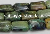 CAZ02 15.5 inches 14*18mm rectangle natural azurite gemstone beads