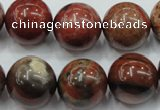 CBD24 15.5 inches 17mm round brecciated jasper gemstone beads