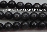 CBJ656 15.5 inches 6mm round black jade beads wholesale