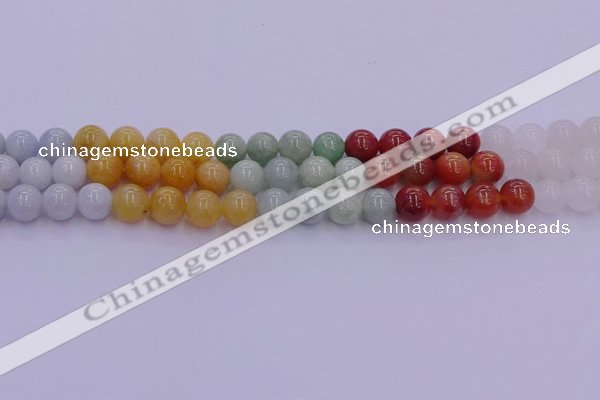 CBJ663 15.5 inches 10mm round mixed jade beads wholesale