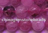 CBQ403 15 inches 10mm round natural strawberry quartz beads