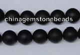 CBS04 15.5 inches 10mm round black stone beads wholesale