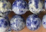 CBS605 15.5 inches 14mm round blue spot stone beads wholesale