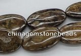CBZ07 15.5 inches 17*27mm oval bronzite gemstone beads wholesale